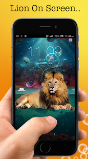 Lion On Screen - Lion in Phone Scary Joke - náhled