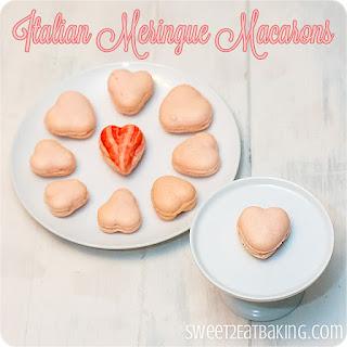 Italian Meringue Valentine Macarons