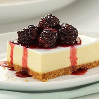 PHILADELPHIA New York-Style Sour Cream-Topped Cheesecake.