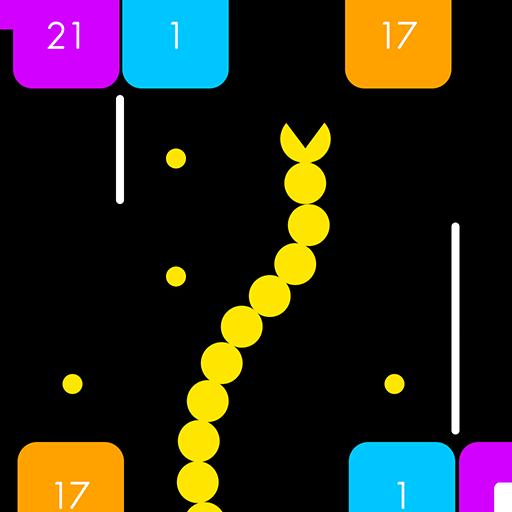 Snake Go Go Go - Go up! get dots & break blocks