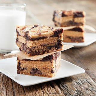 Peanut Butter Cookie Dough Brownie Swirl Bars