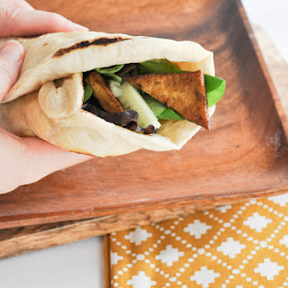 Crispy Tofu Wrap with Homemade Tortillas & Avocado Mayo.