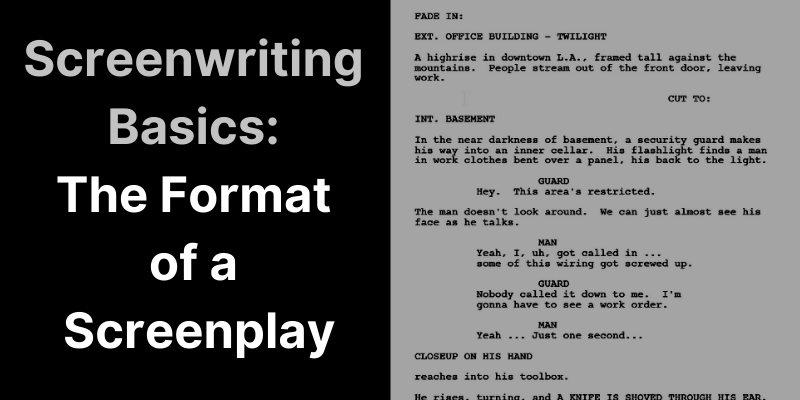 basic format of screenplays