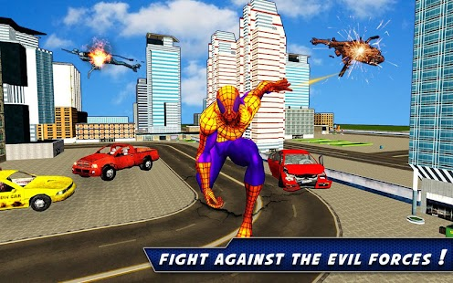 Flying Spider Rope Hero: Crime City Rescue Mission- screenshot thumbnail