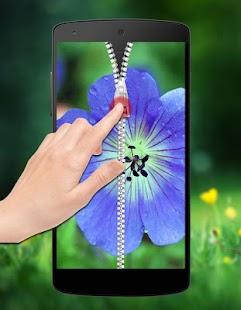 Flower Zipper Lock screenshot