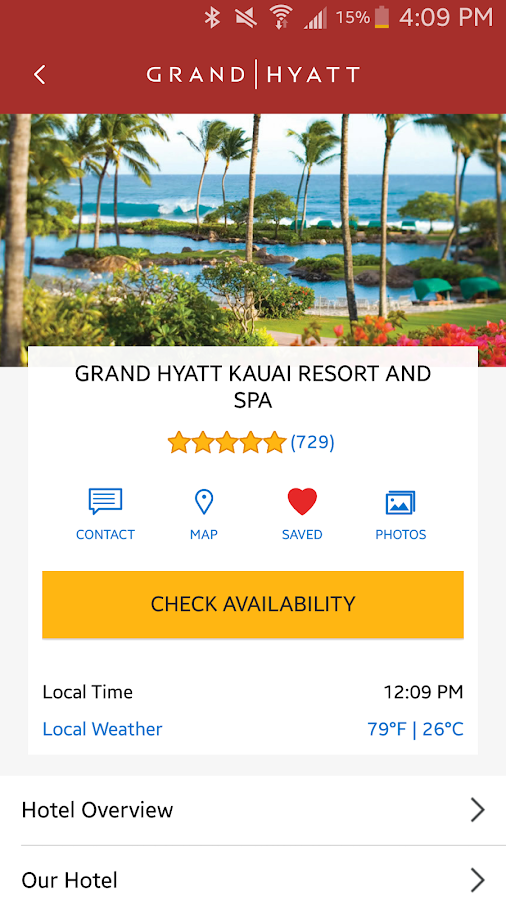 Hyatt Hotels- screenshot