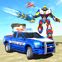 Police Robot Tow Truck Driving Car Transport Game icon