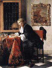 Foto: Gabriël Metsu (Leiden, januari 1629 - begraven Amsterdam, 24 oktober 1667) was een Nederlandse kunstschilder uit de Gouden Eeuw. Hij schilderde veel genrestukken, waarvan sommige ook als portretten kunnen worden gezien. Metsu staat bekend om zijn zilveren coloriet, de beheersing van de lichtinval en de verborgen erotiek. In de afgelopen jaren heeft Metsu echter nogal in de schaduw gestaan van de Delftse kunstenaar Johannes Vermeer. Daardoor heeft zijn werk niet de erkenning en waardering gekregen die het verdient.