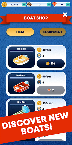 Merge Boat - Idle Clicker & Builder Tycoon - screenshot
