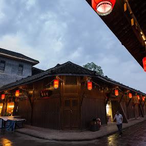 Anren old town 1 by Xianwen Xu - City,  Street & Park  Street Scenes ( 2018, street, sichuan, old town, evening, leica )