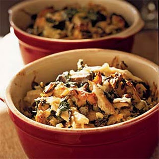Chicken and Rice Casserole with Spinach and Shiitakes