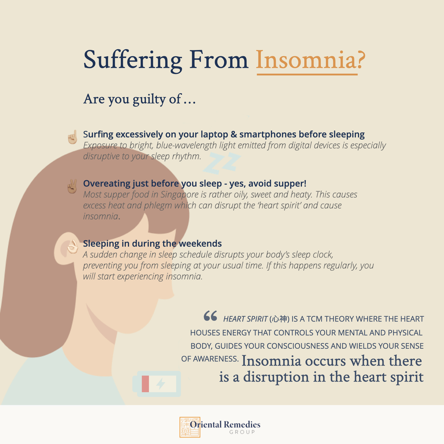 Reasons for insomnia