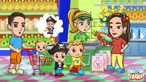 Vlad & Niki Supermarket game for Kids screenshots 2