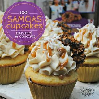 Girl Scout Samoas Cupcake