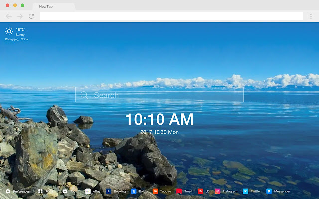Landscape New Tab HD Photography Theme