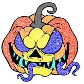 Halloween Glitter Color by Number Coloring Book