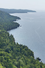 Photo: Looking north along the east shore of the Keweenaw Peninsula