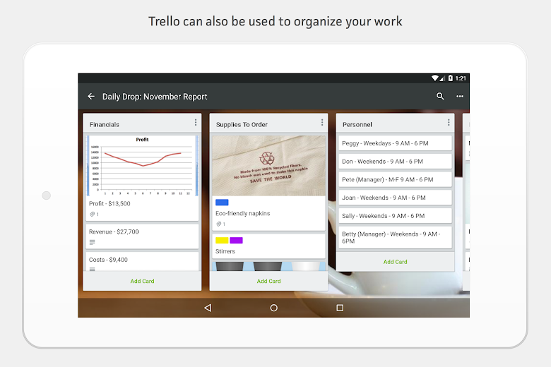 Screenshot 16 for Trello's Android app'