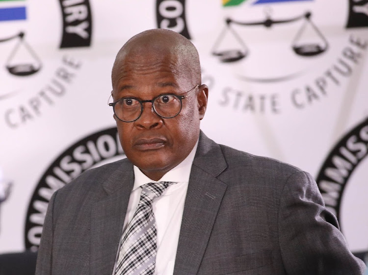 Former Eskom CEO Brian Molefe testifies at the state capture commission in Johannesburg. Picture: VELI MHLAPO