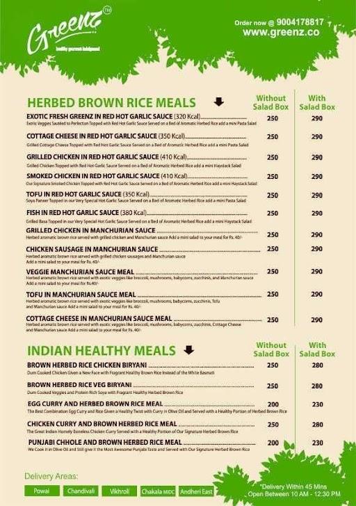 Greenz menu 1
