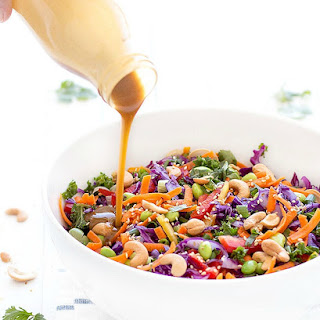 Asian Chopped Salad with Peanut Dressing.