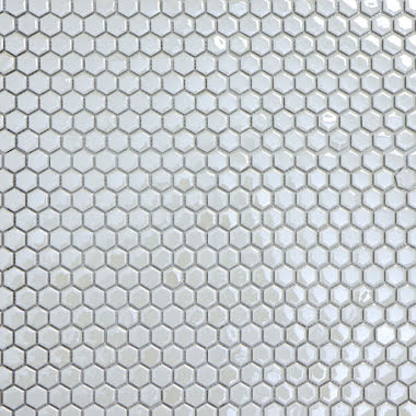 Mosaik Hexagon Glaze Vit