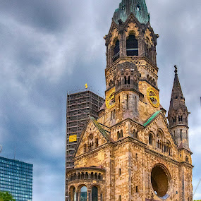 Old Church by Pravine Chester - Buildings & Architecture Public & Historical ( building, photograph, church, damaged building, germany, berlin, architecture )