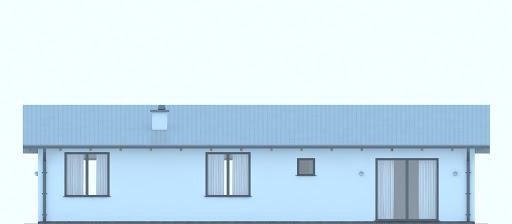 G231 - Budynek letniskowy - Elewacja tylna