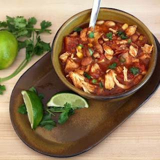 Hearty Slow Cooker Chicken Chili.