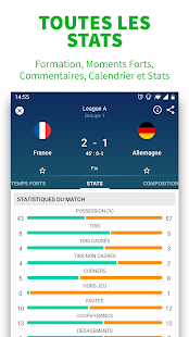 SKORES- Foot en direct & Résultats Football 2019 Capture d'écran