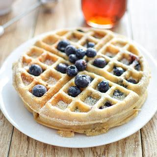 (Meyer) Lemon and Blueberry Waffles