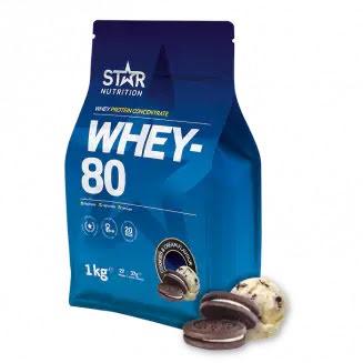 Star Nutrition Whey 80 1kg - Cookies & Cream
