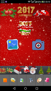 Christmas Photo Stickers maker screenshot 1