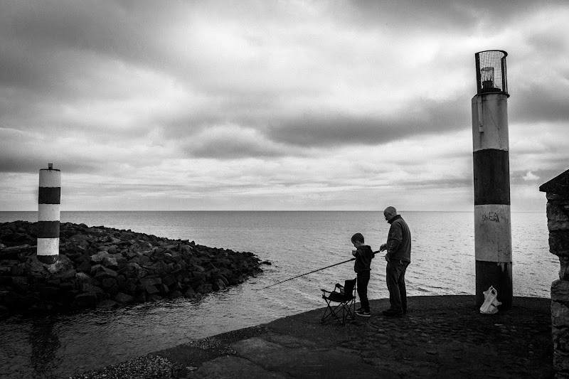 Photo: Learn to fish  Sunday morning with Granddad