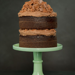 Chocolate Tim Tam Cake With Mexican Chocolate Frosting.