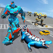 Robot Crocodile Game - Transforming Robot Attack