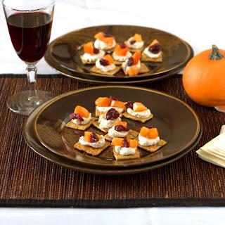 Persimmon and Goat Cheese Bruschetta