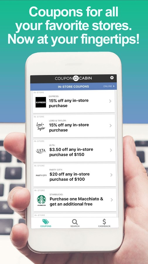 CouponCabin - Coupons & Deals- screenshot