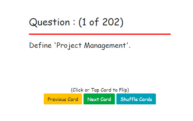 PMP Certification Flashcards