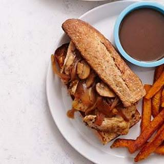 Chicken French Dip Sandwiches.