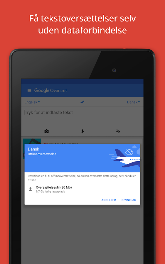Google Oversæt – screenshot