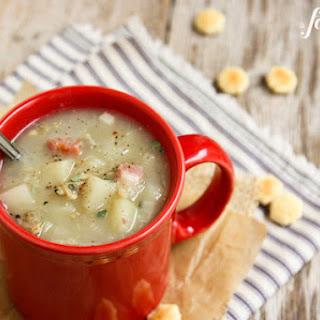 New England Clam Chowder with Salt Pork Belly