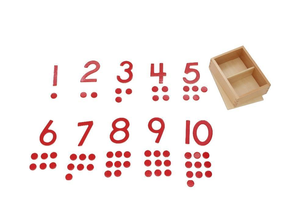 chiffres tri activité montessori jouet bois compter jetons boite en bois