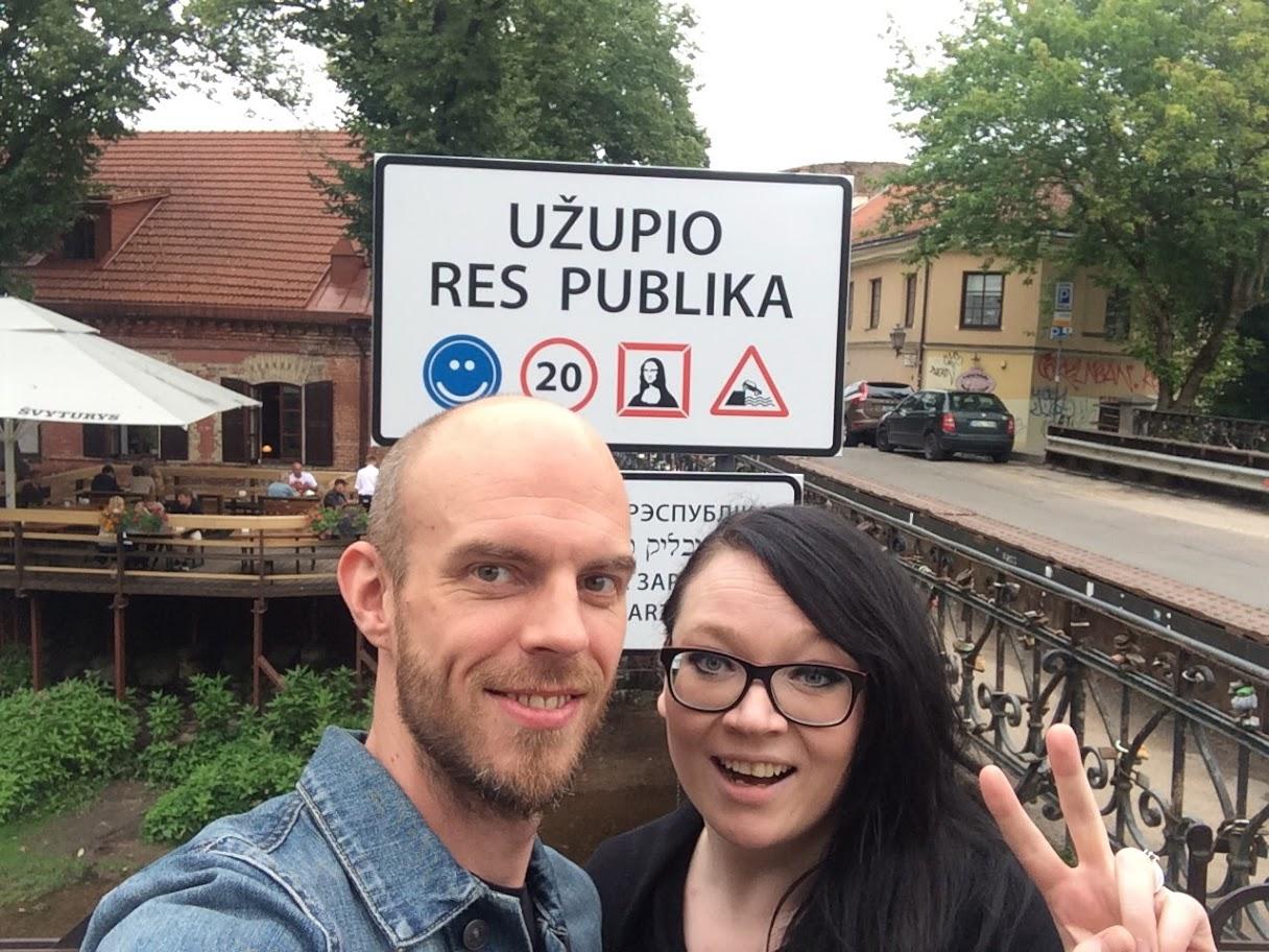 Užupisin tasavalta, Vilna, Liettua.