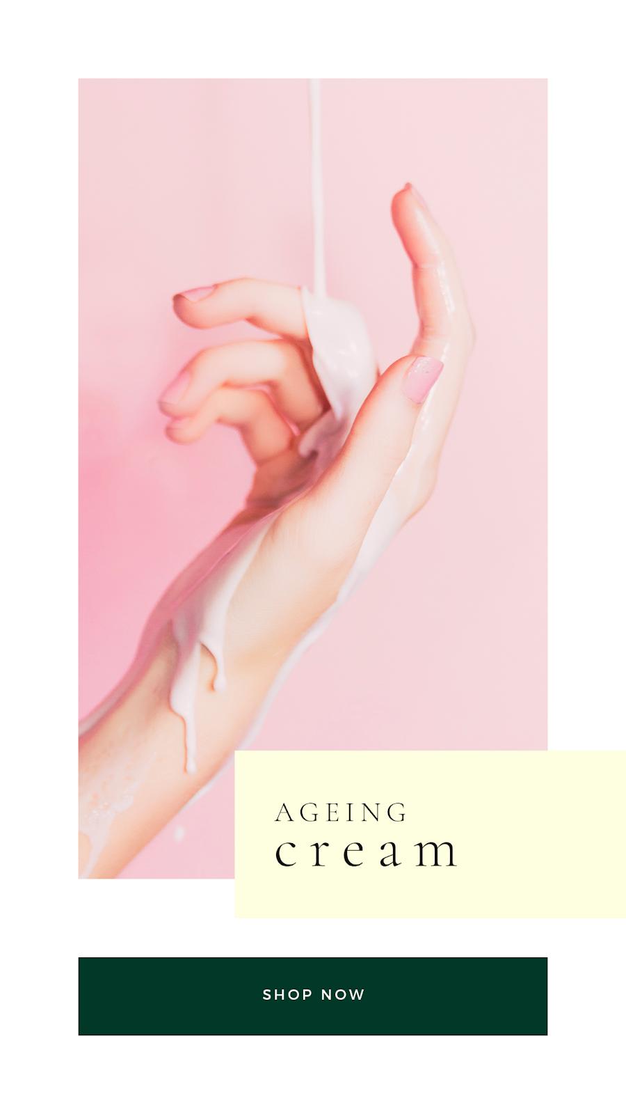 Graphics Eggs Ageing Cream Instagram Stories Templates