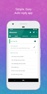 WhatsAuto - Reply App Screenshot