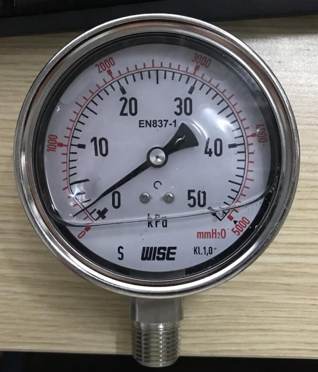 Đồng hồ đo áp suất được sử dụng để đo áp suất