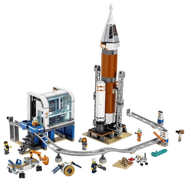 Contenido de Lego® 60228 Cohete Espacial de Larga Distancia y Centro de Control