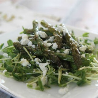 Baby Pea Shoot and Asparagus Salad Recipe