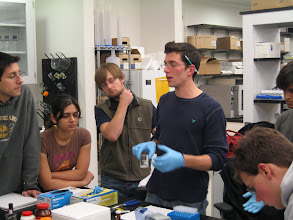 Photo: Dave is explaining how to synthesize gold nanorods